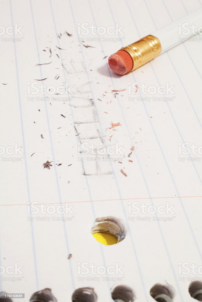 Erasing Failure stock photo