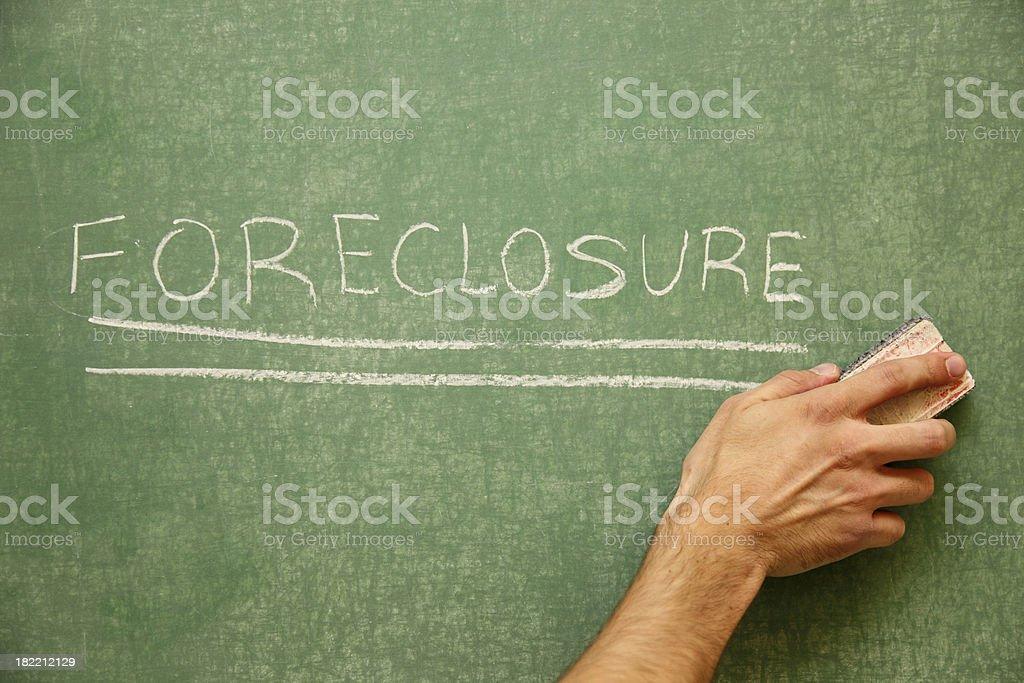 Erasing Foreclosure stock photo