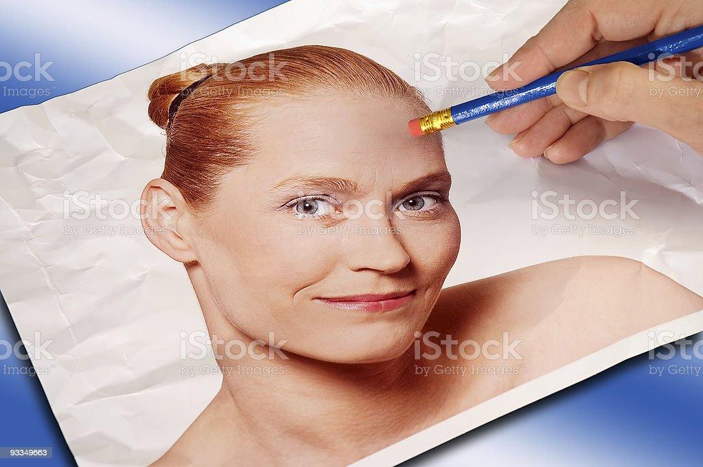 Erasing Wrinkles royalty-free stock photo