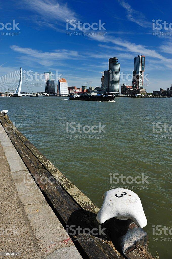 Erasmus bridge in Rotterdam royalty-free stock photo