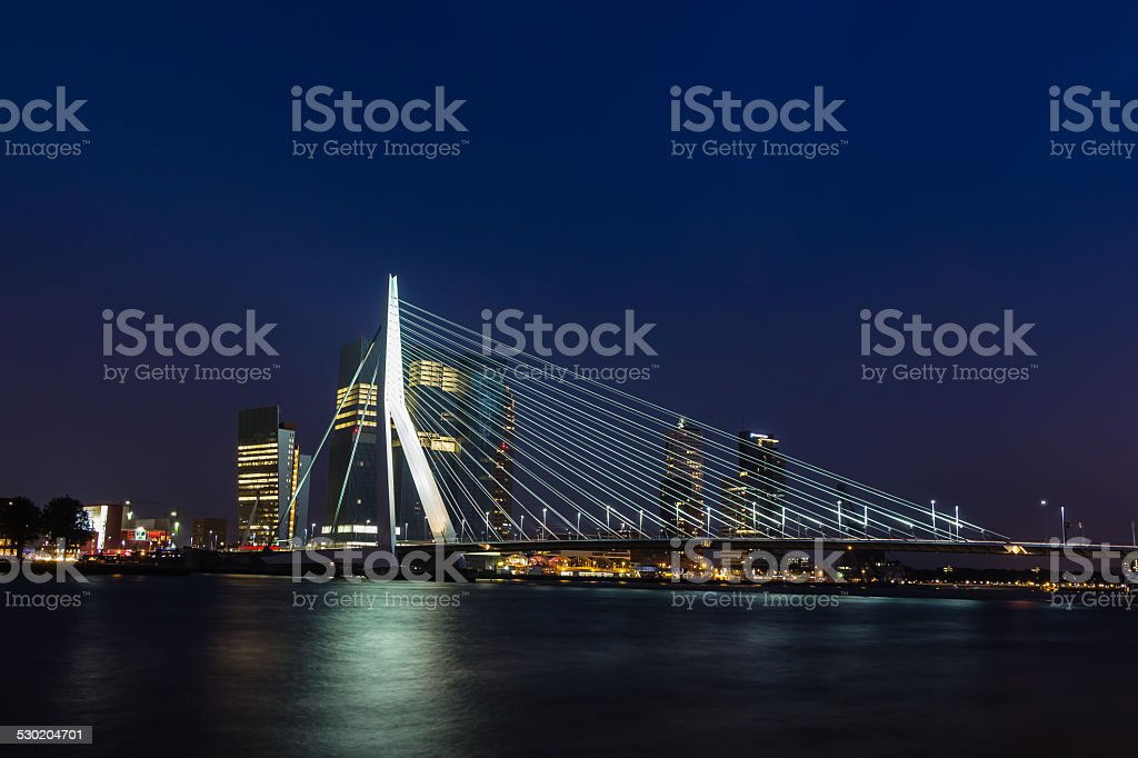Erasmusbrücke in Rotterdam stock photo