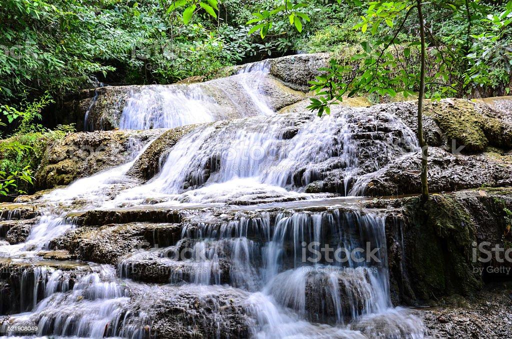 Erawan Falls, Kanchanaburi stock photo