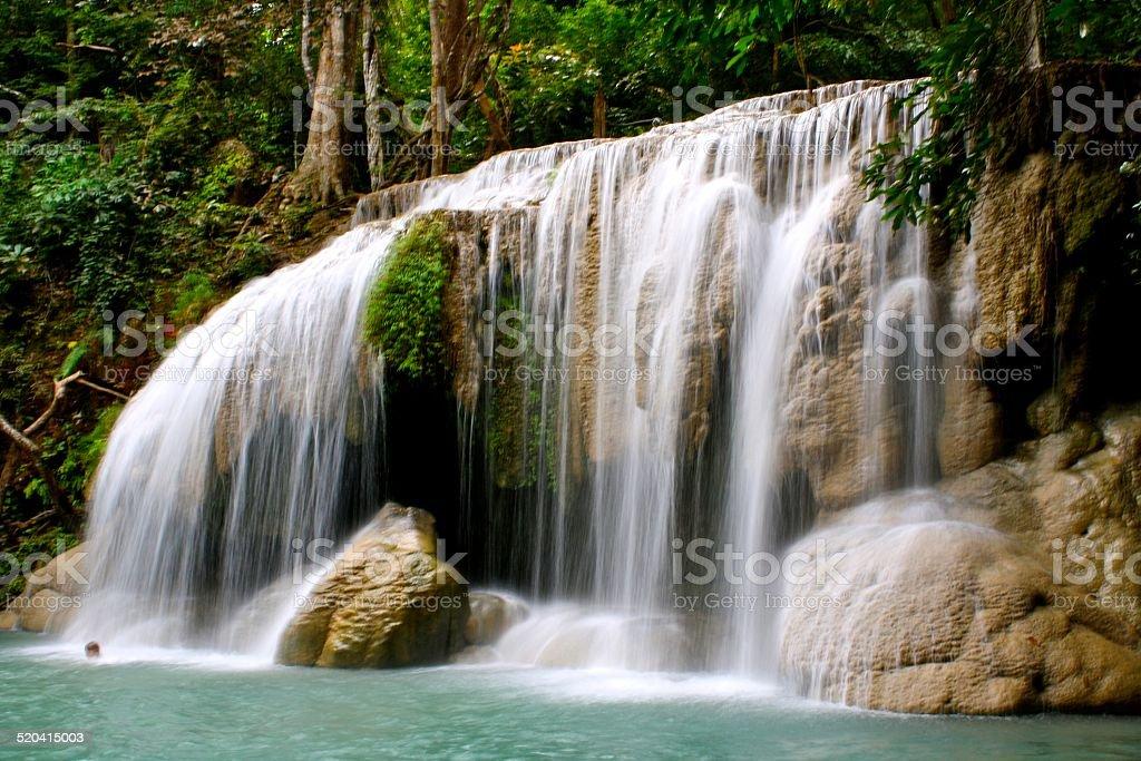 Erawan Falls, Kanchanaburi, Thailand stock photo