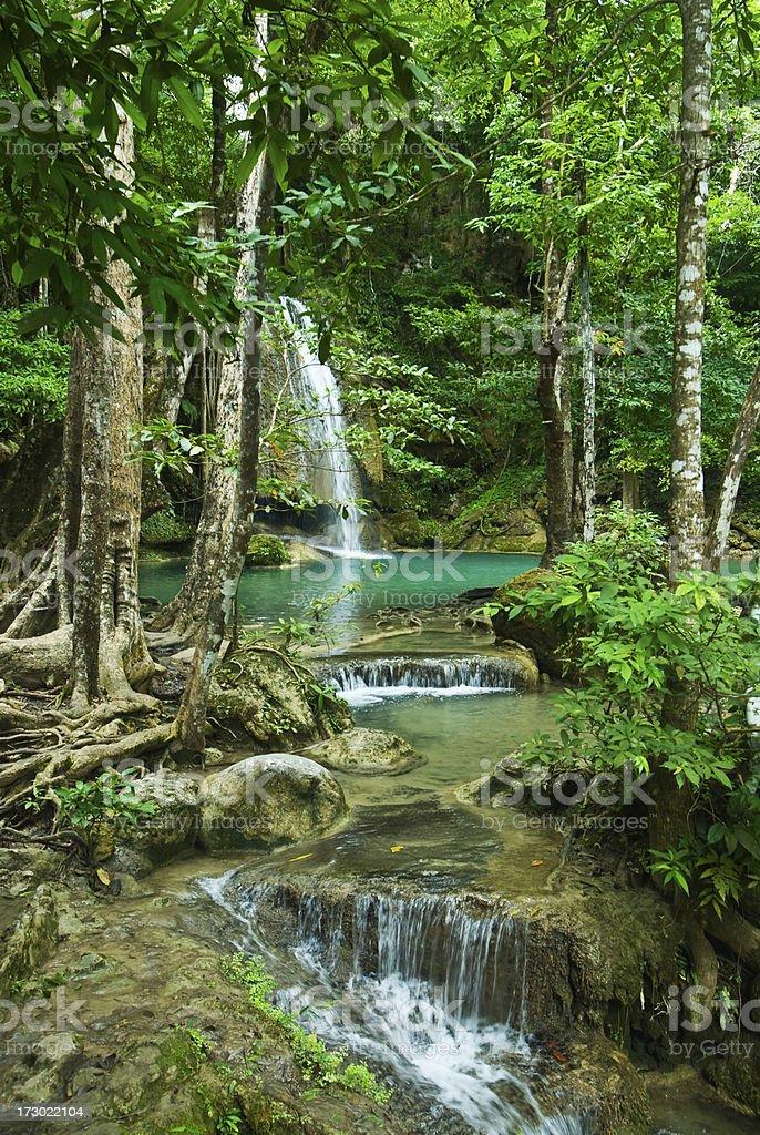 Erawan Falls stock photo