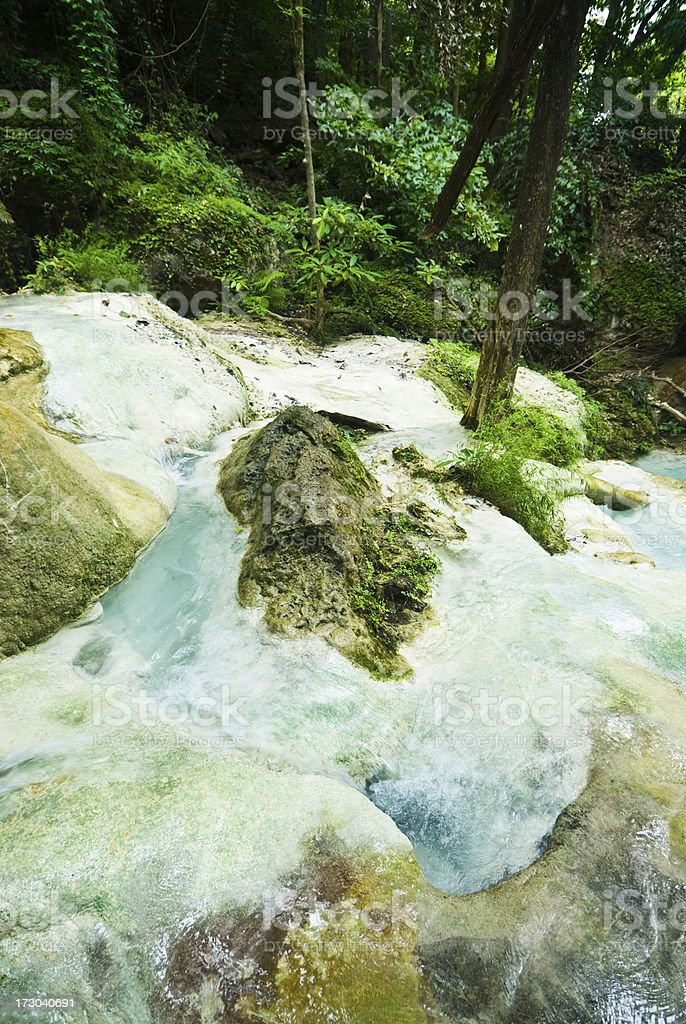 Erawan Falls royalty-free stock photo