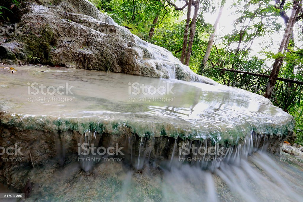Erawan Falls stock photo