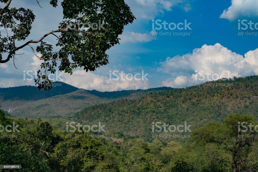 Erawan National Park stock photo