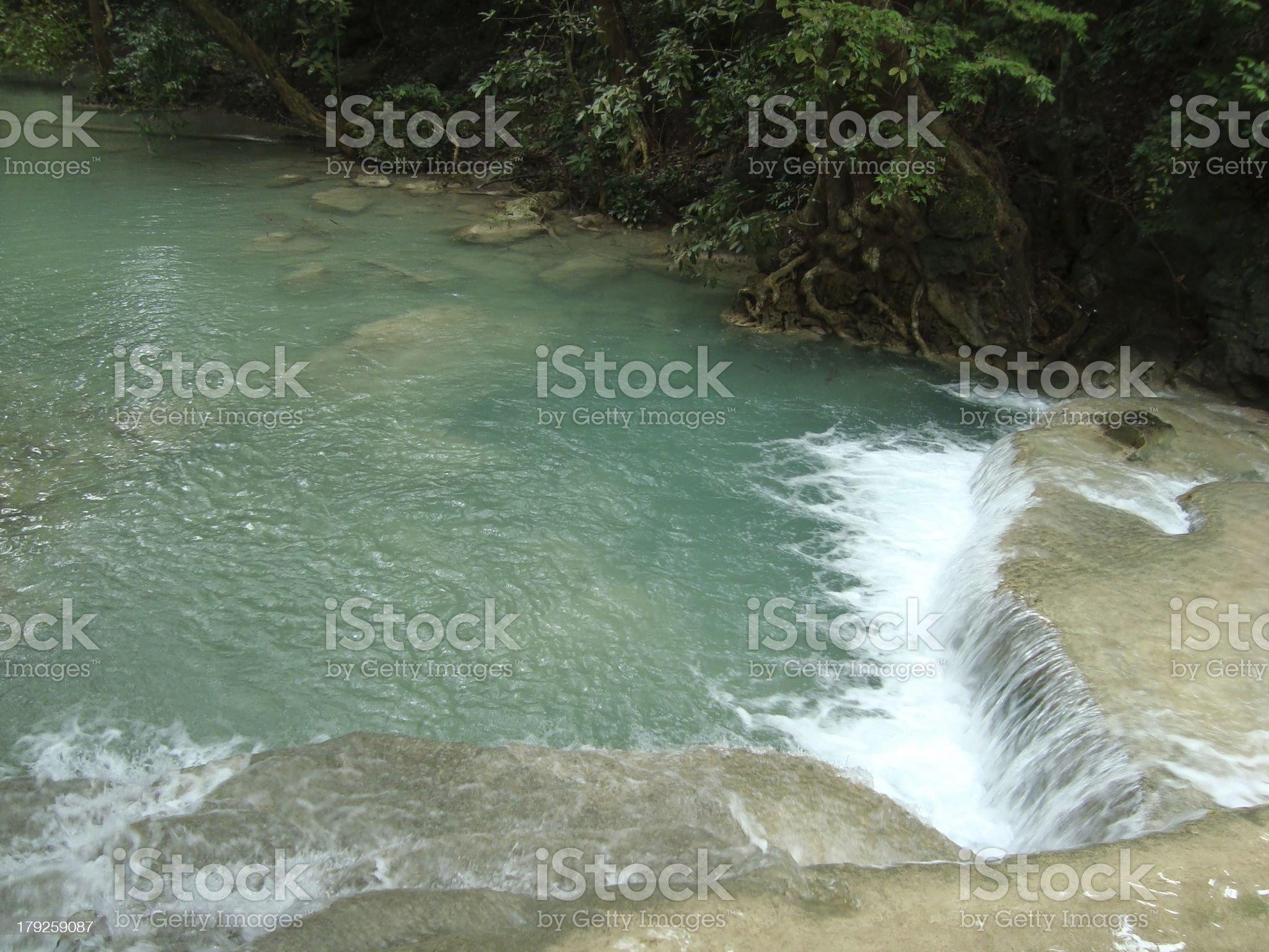 Erawan national park waterfalls, Kanchanaburi - Thailand royalty-free stock photo
