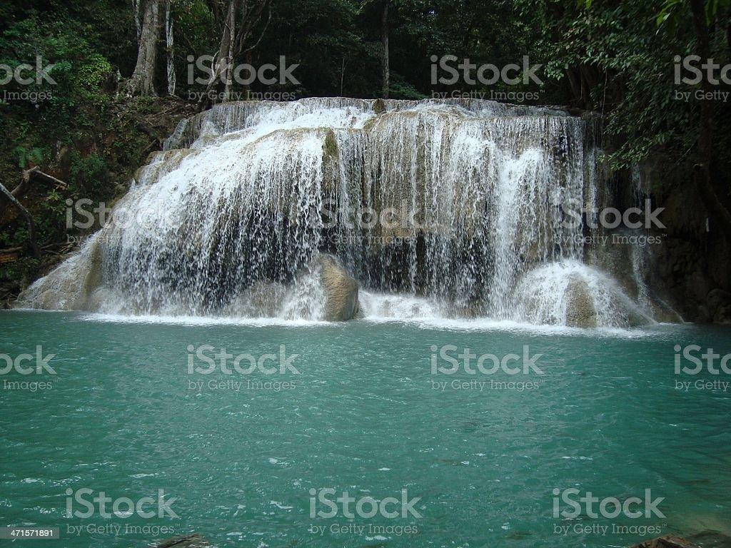 Erawan national park waterfalls, Kanchanaburi - Thailand stock photo
