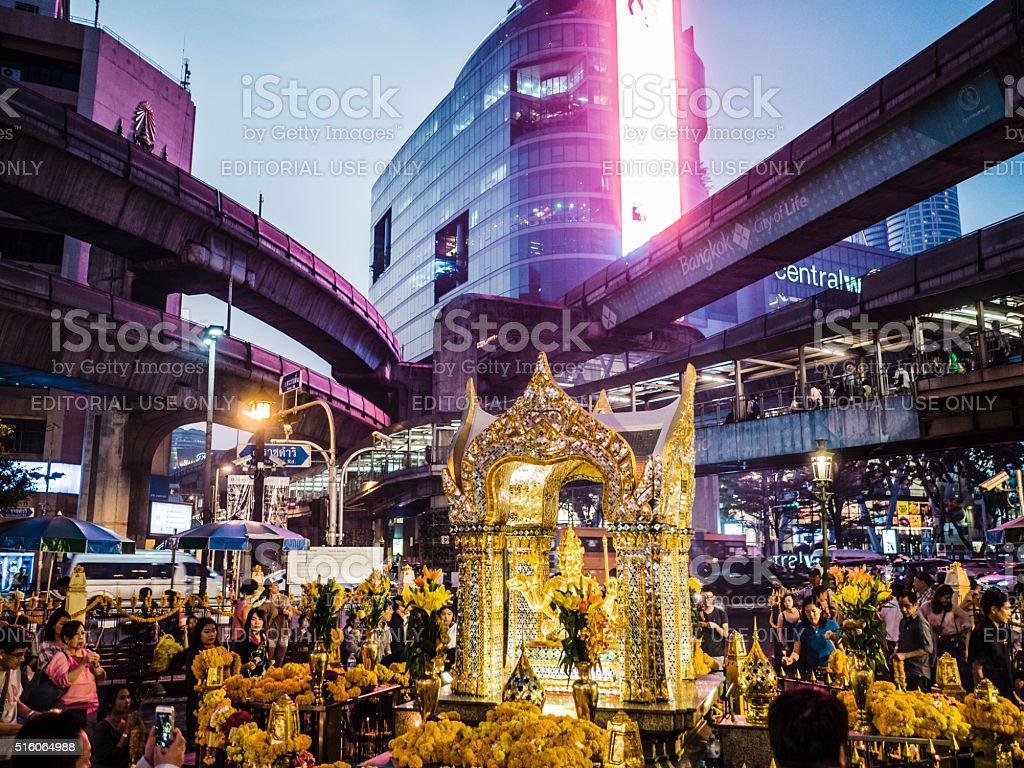 Erawan Shrine Bangkok Thailand stock photo
