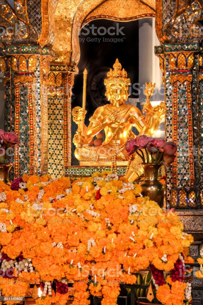 Erawan Shrine, Landmark in Bangkok, Thailand stock photo