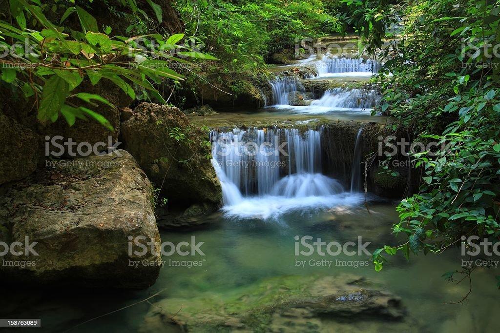 Erawan water fall, Kanchanaburi, Thailand royalty-free stock photo