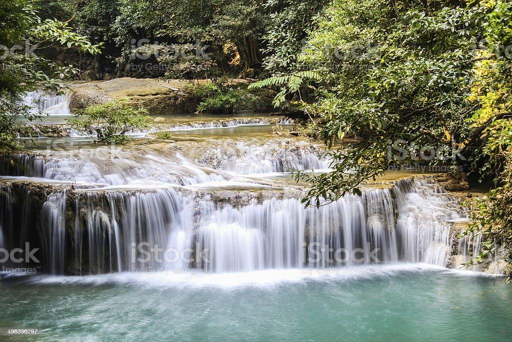 Erawan Waterfall 3 royalty-free stock photo