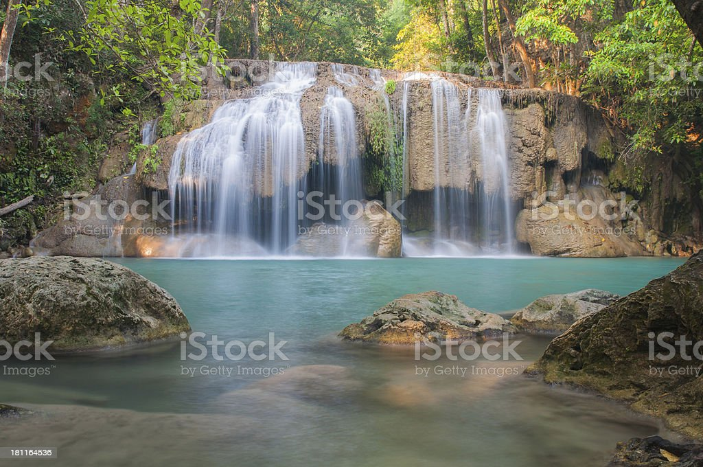 Erawan Waterfall at Kanchanaburi, Thailand royalty-free stock photo