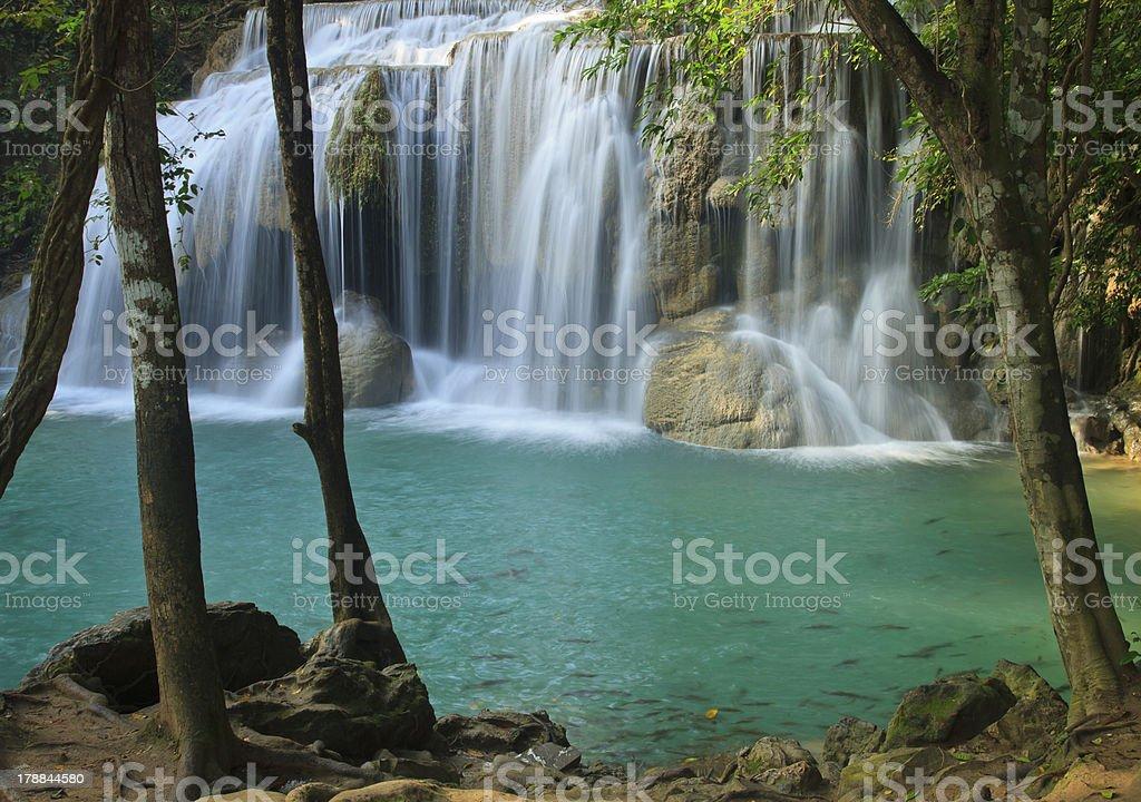 Erawan Waterfall in Kanchanaburi, Thailand royalty-free stock photo