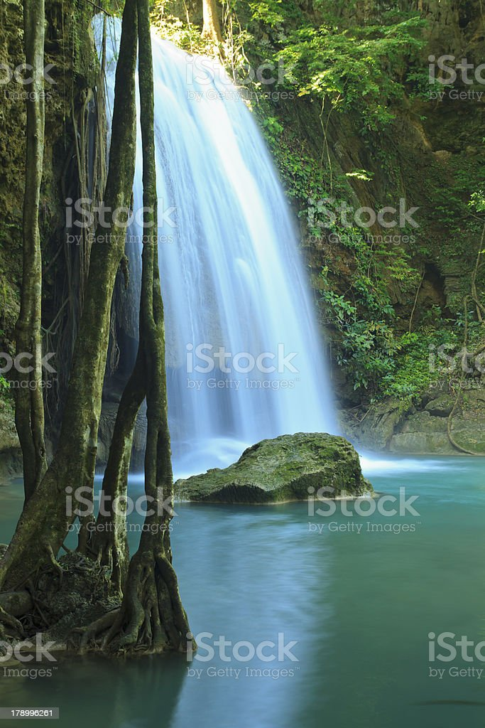 Erawan Waterfall in Kanchanaburi, Thailand royalty-free stock photo