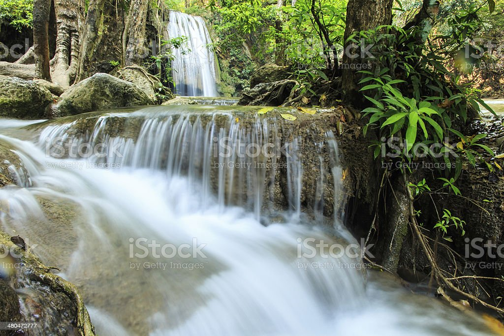 Erawan Waterfall, Kanchanaburi, Thailand. royalty-free stock photo