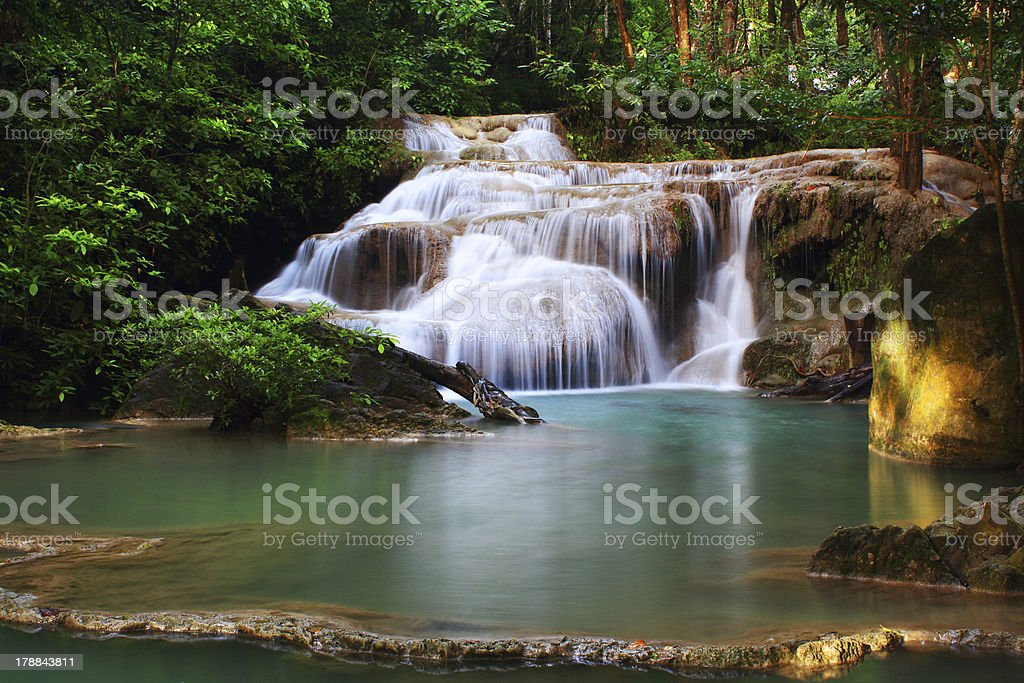 Erawan Waterfall, royalty-free stock photo