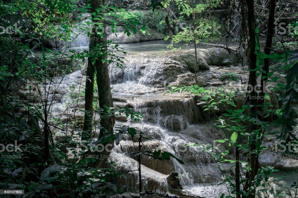 Erawan Waterfall stock photo