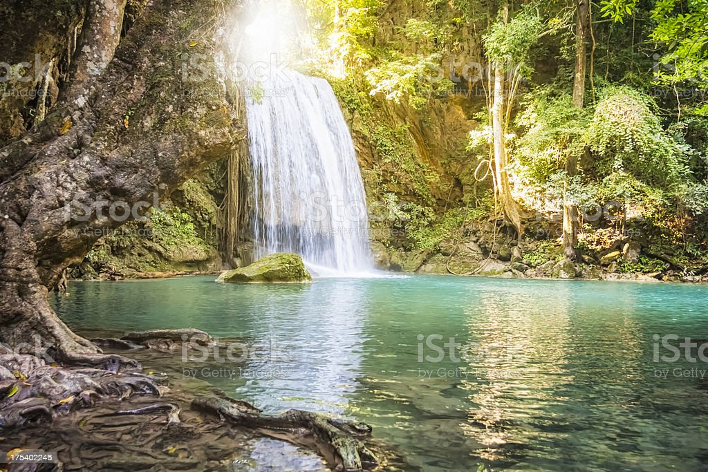 Erawan Waterfall - Thailand royalty-free stock photo