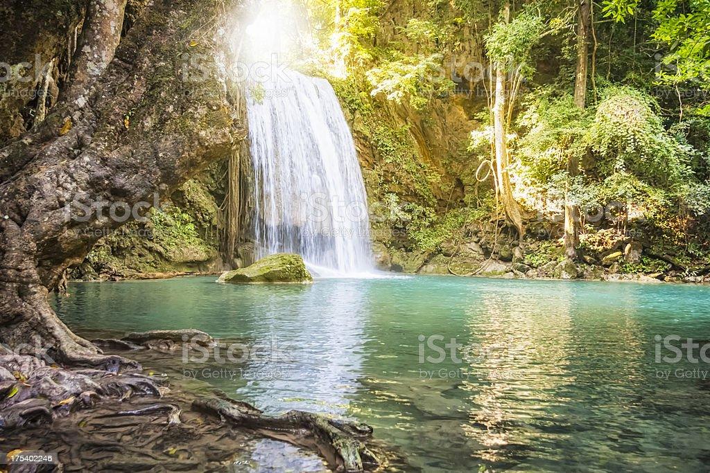 Erawan Waterfall - Thailand stock photo