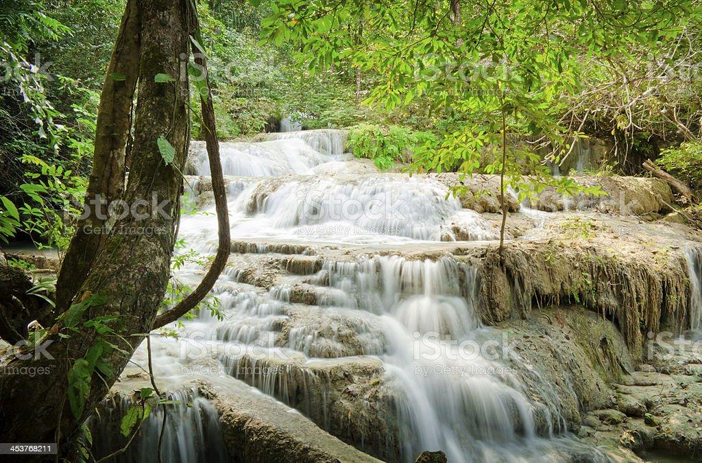 Erawan Waterfalls 1 stock photo