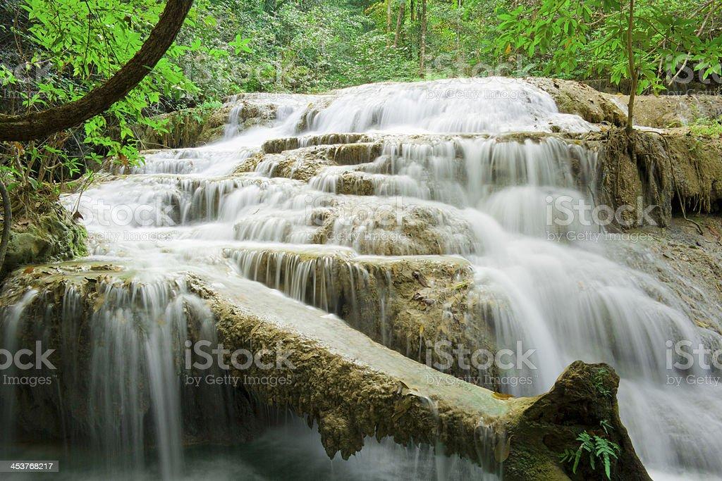Erawan Waterfalls 2 royalty-free stock photo