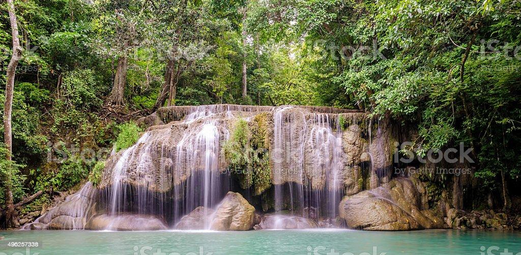 Erawan Waterfalls (Thailand) stock photo