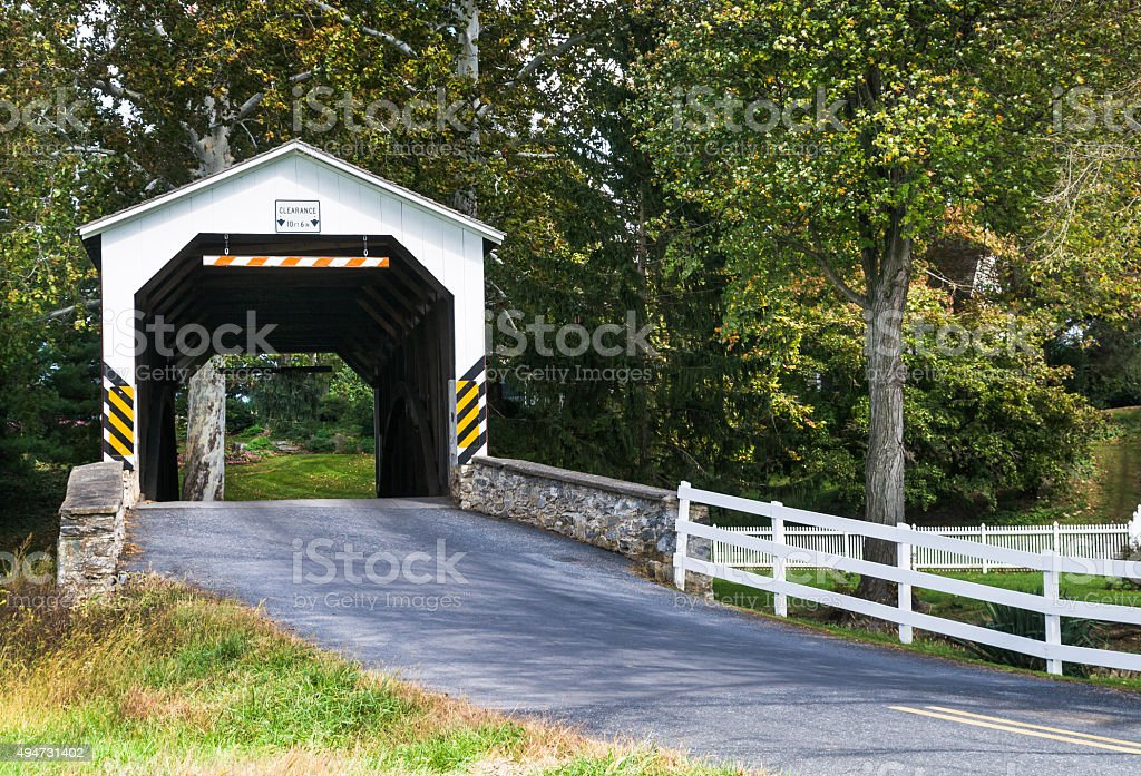Erb's Covered Bridge stock photo