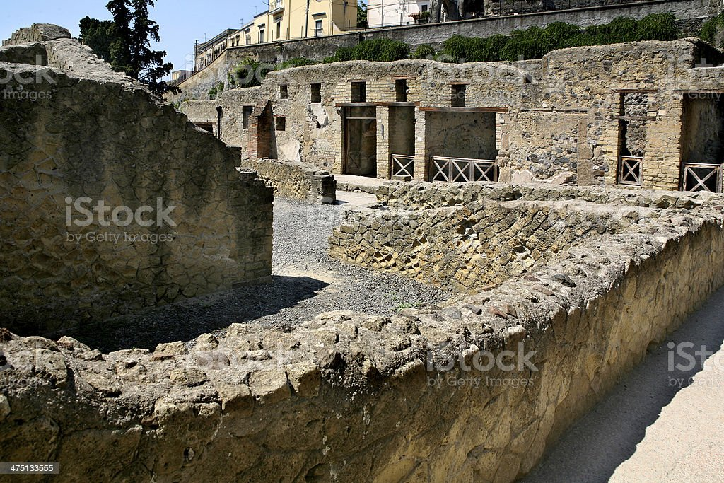 ercolano scavi stock photo