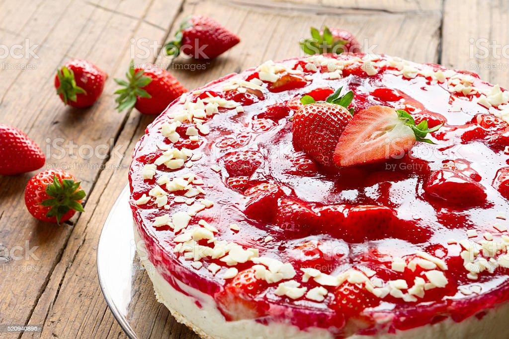 Erdbeertorte stock photo