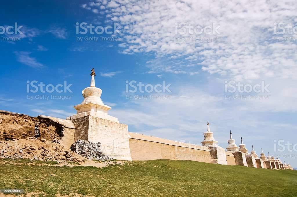 Erdene Zuu Monastery, ancient city of Kharhorin, Central Mongolia stock photo