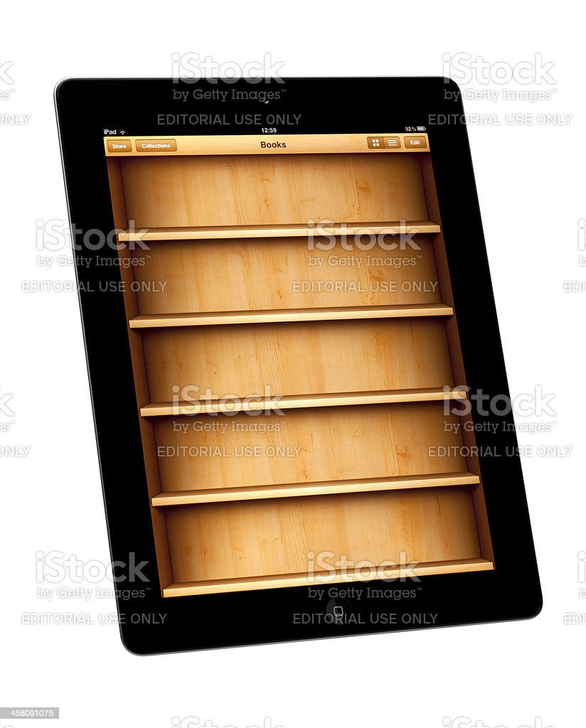 E-reader App royalty-free stock photo