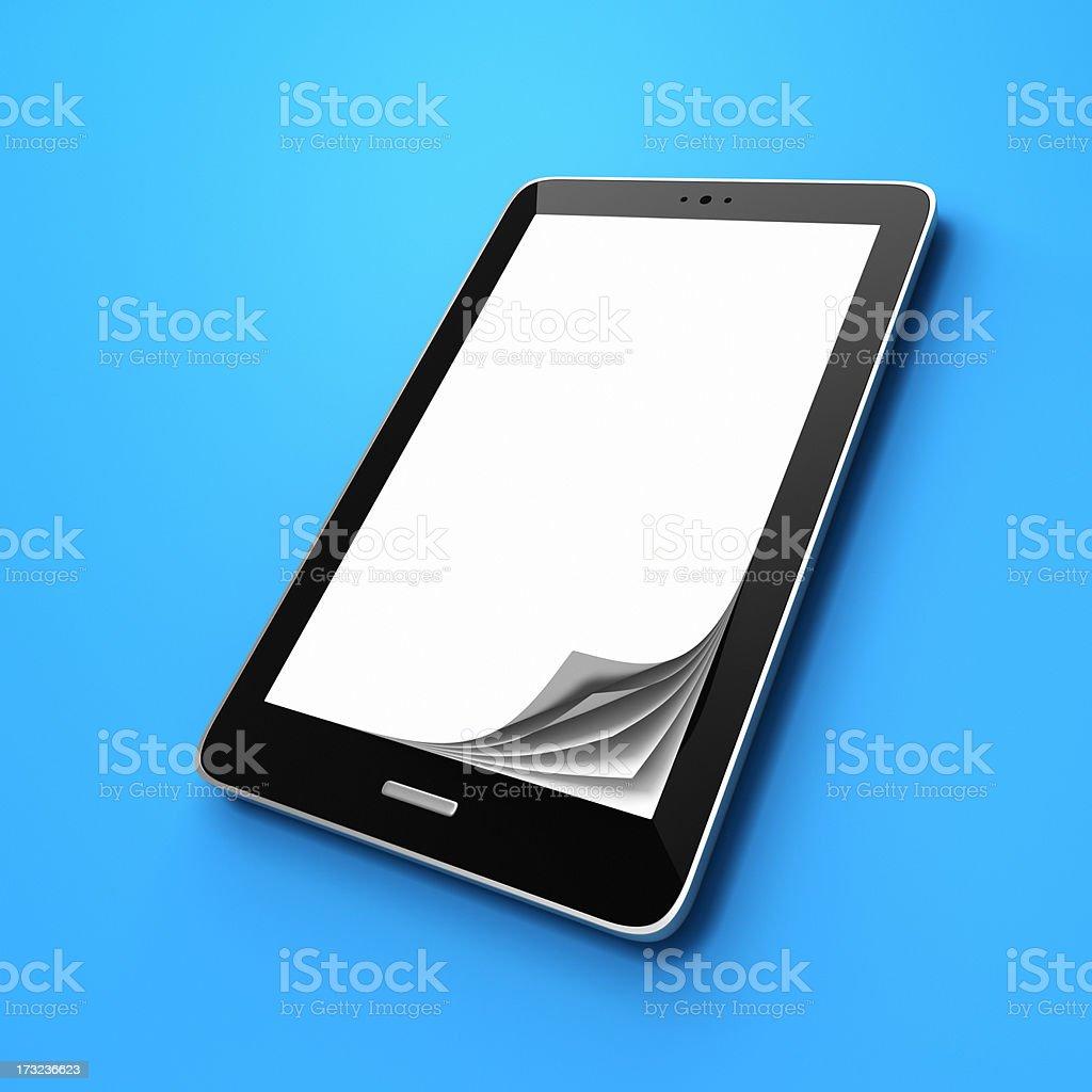 E-reader as Book XL stock photo