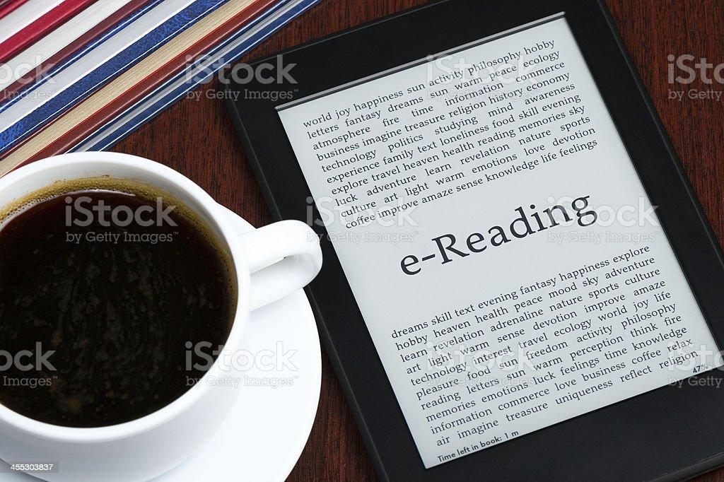 e-Reading stock photo