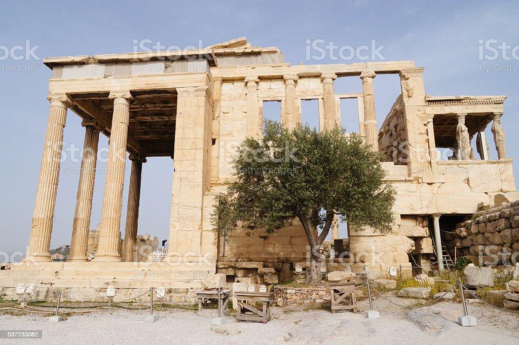 Erechteion, Acropolis, Athens, Greece. stock photo