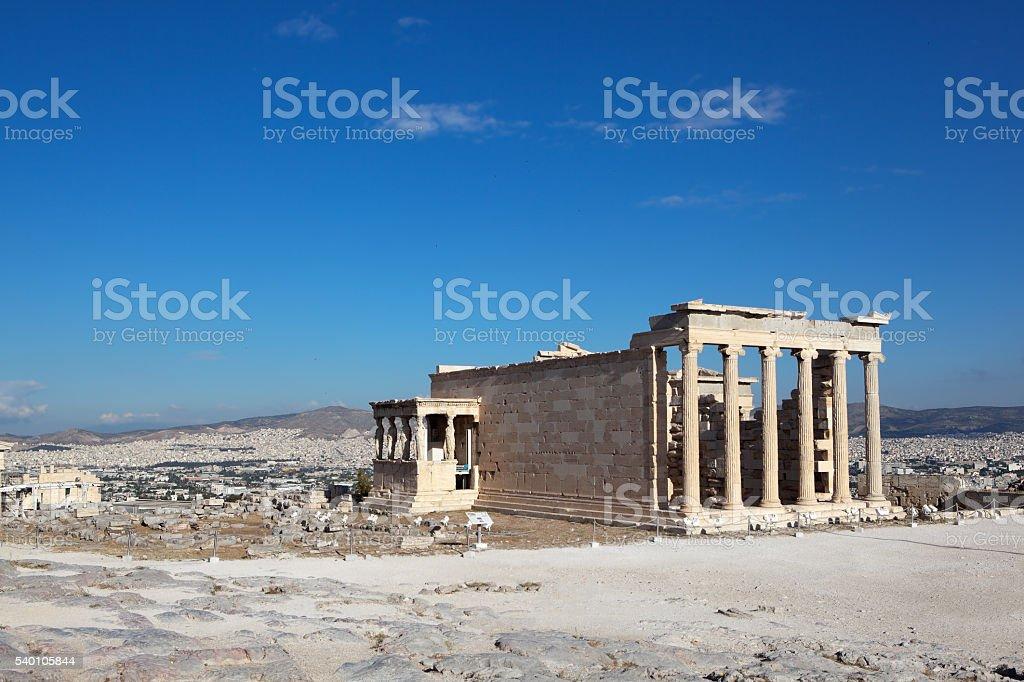 Erechtheion, Acropolis. Athens. Greece. stock photo