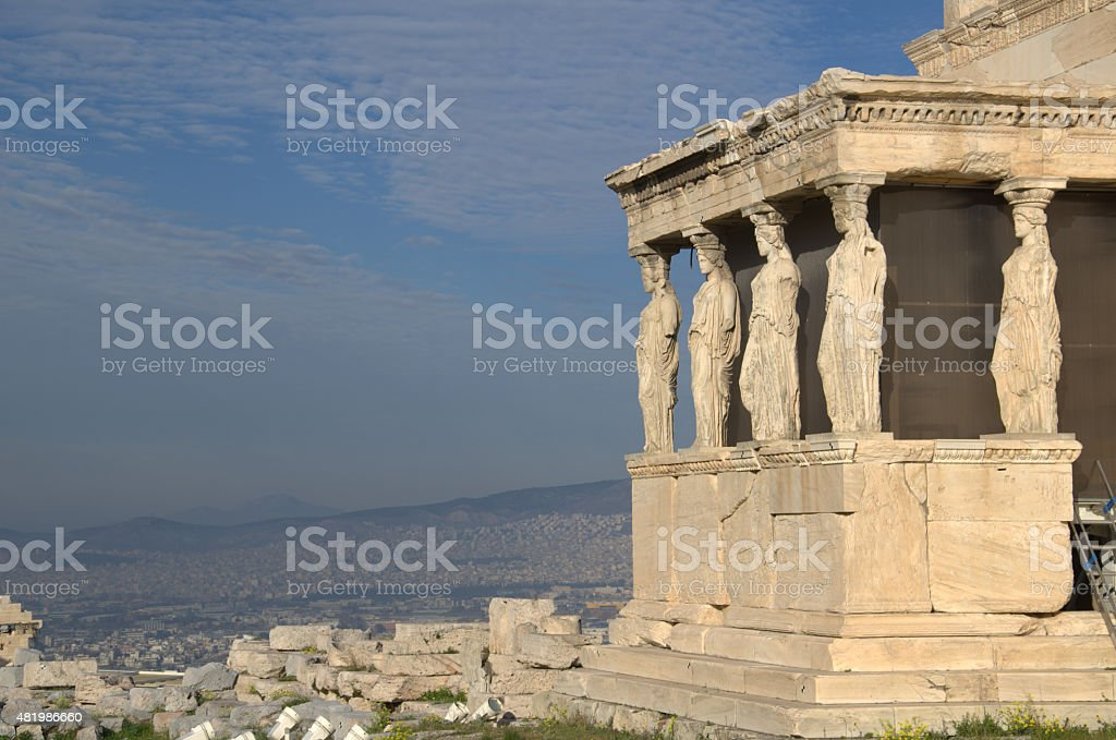 Erechtheion stock photo