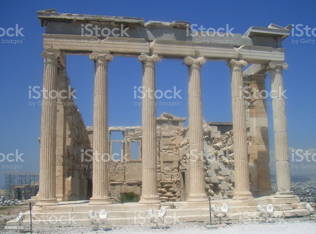 Erechtheoin, Acropolis Greece, stock photo