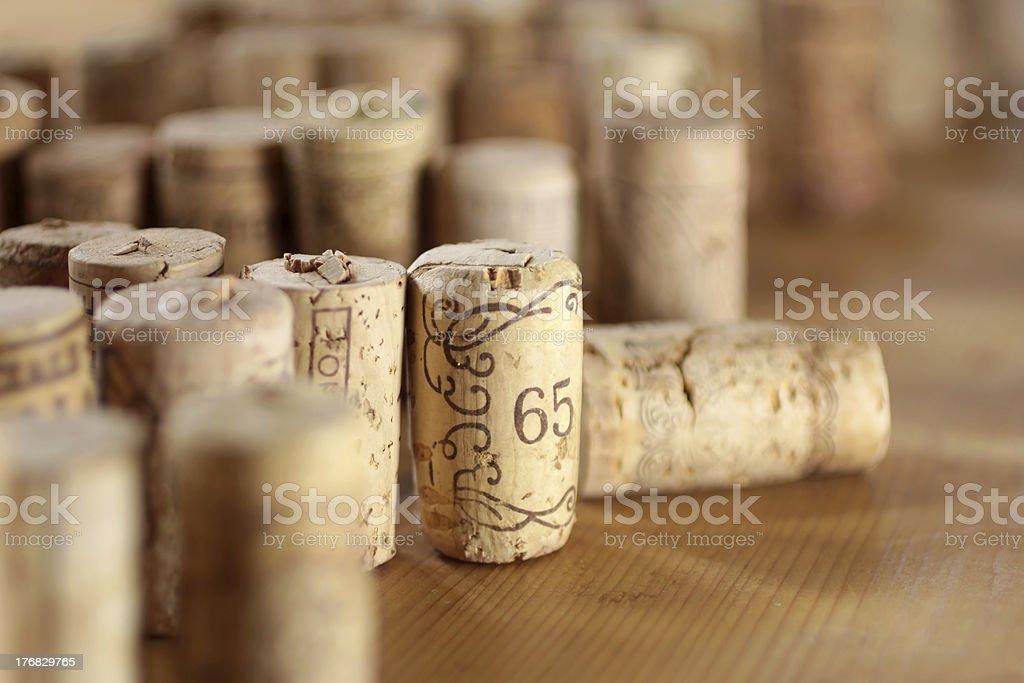 Aufgestellte Korken stock photo
