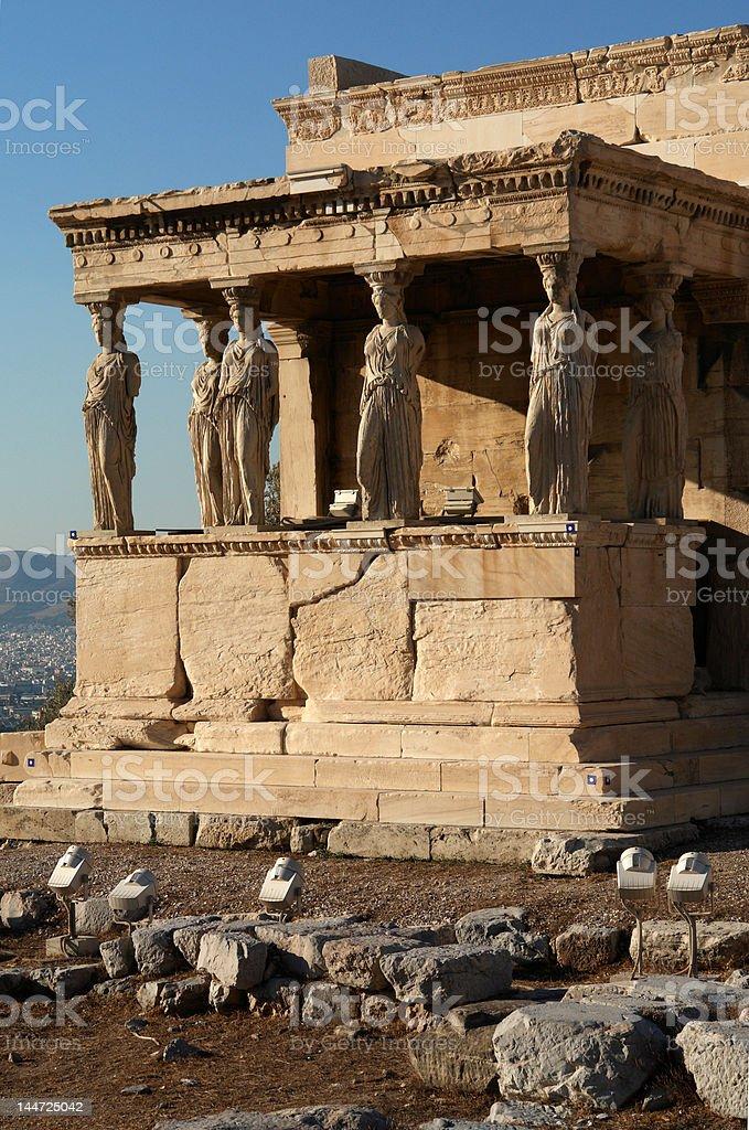 Erectheum temple Acropolis Athens royalty-free stock photo