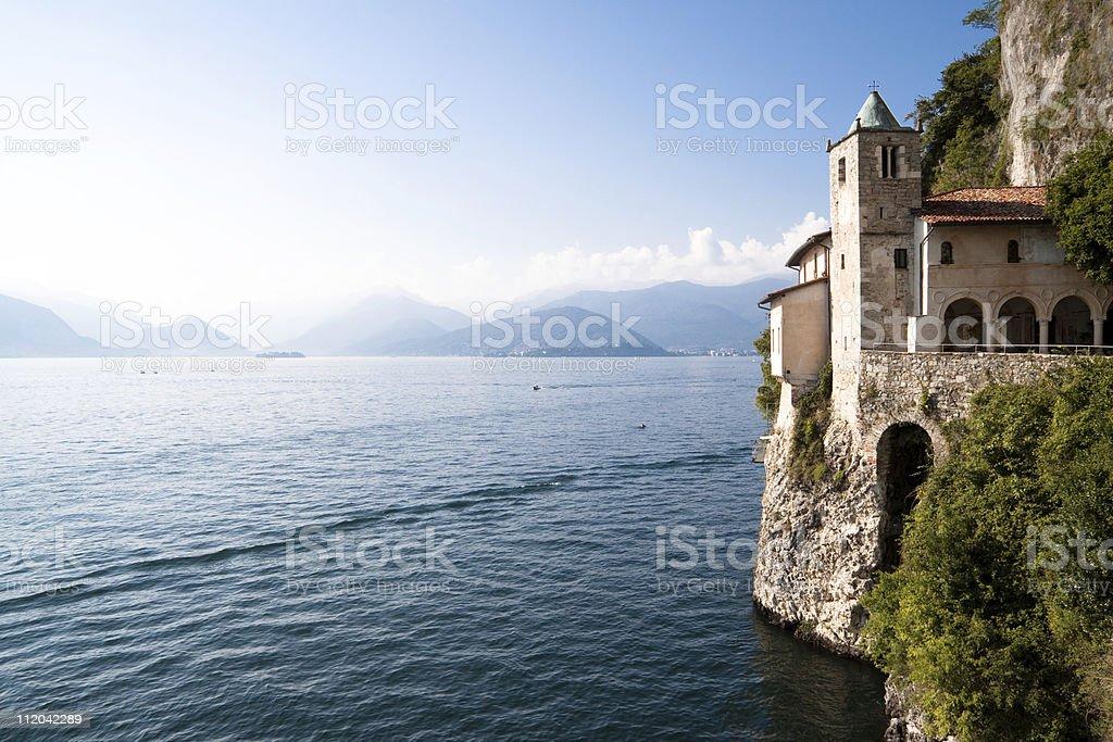 Eremo Santa Caterina del Sasso, Leggiuno - Italian Lake District stock photo