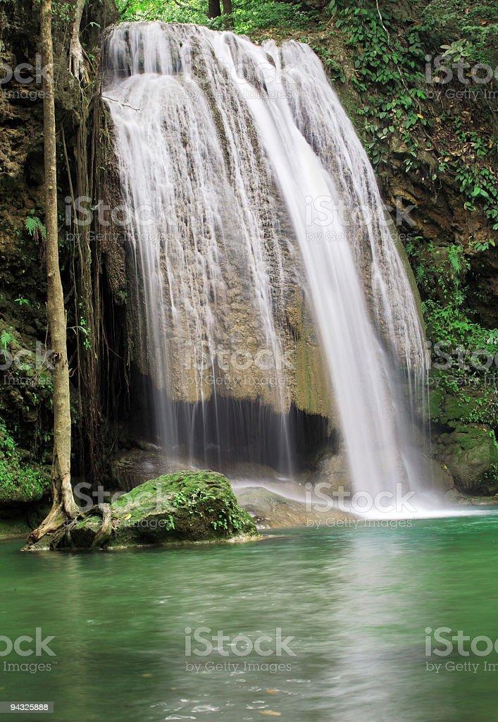 Erewan waterfalls , Kanchanaburi. royalty-free stock photo