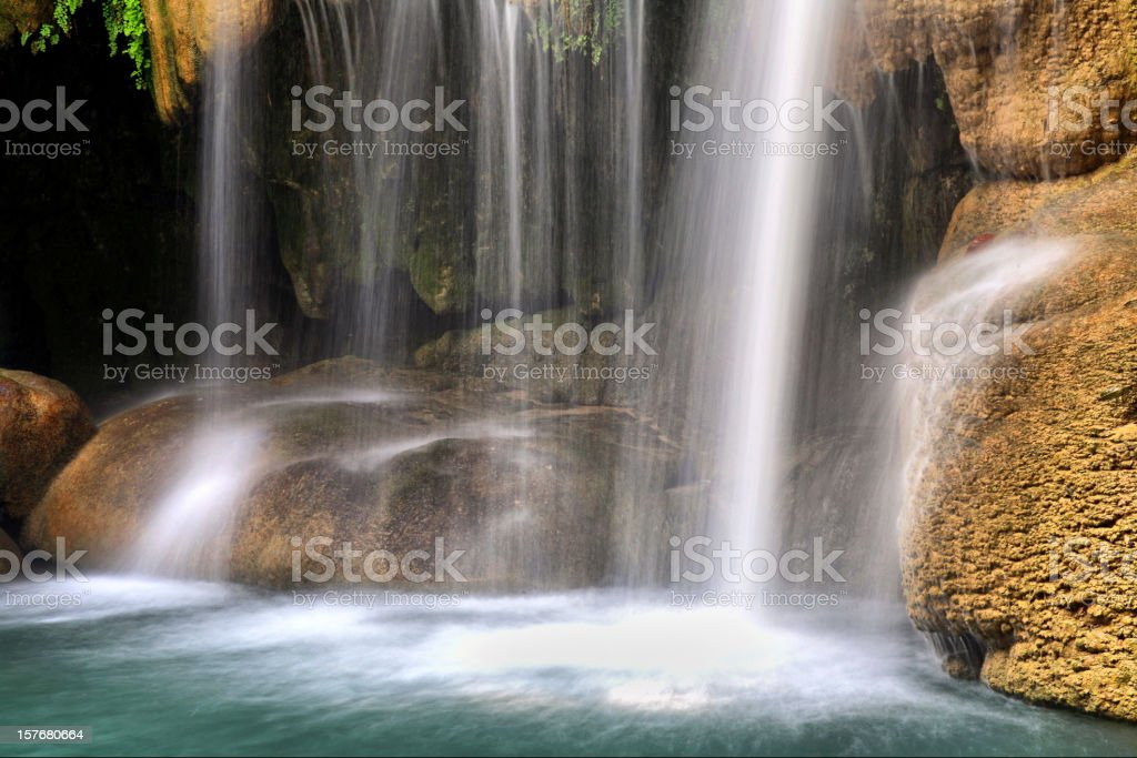 Erewan waterfalls, Thailand. royalty-free stock photo