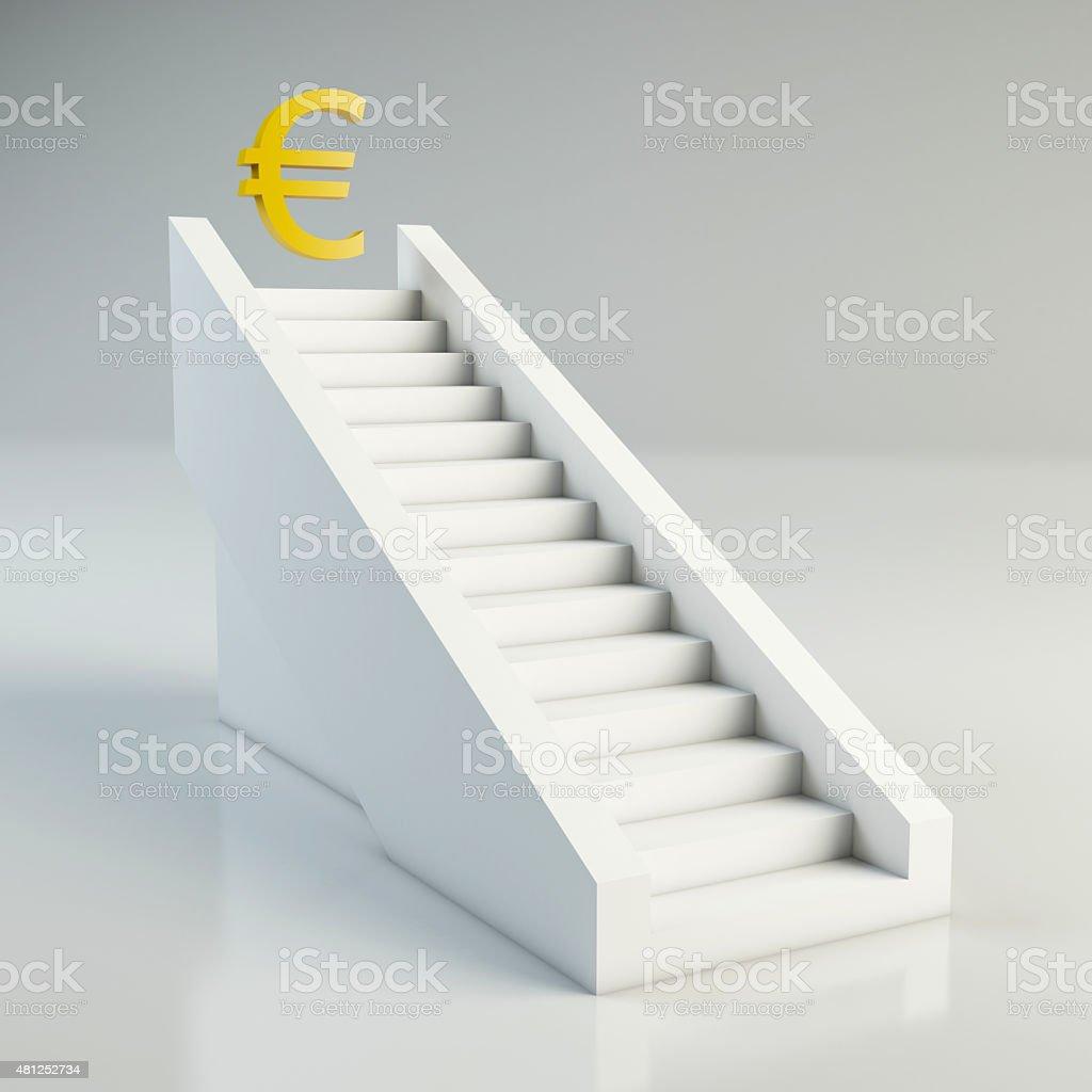 Erfolgstreppe stock photo