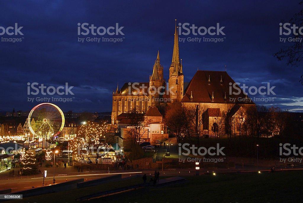 Erfurt Christmas market royalty-free stock photo