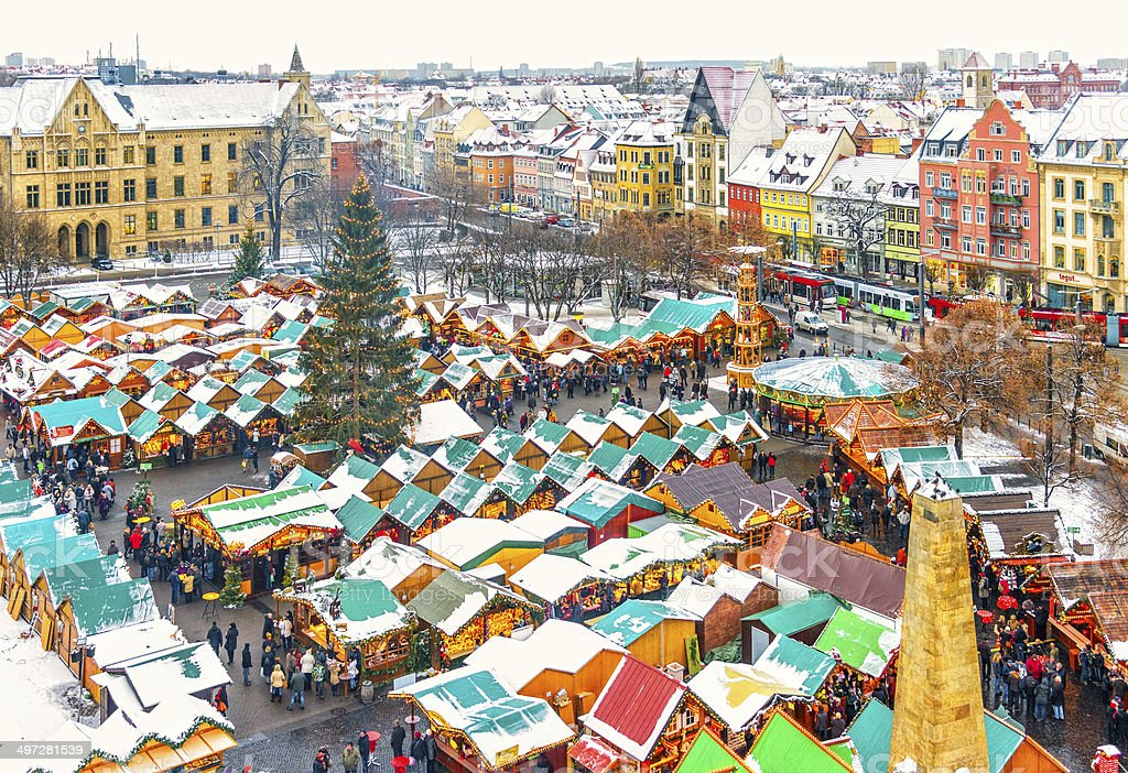 Erfurt during Christmas stock photo