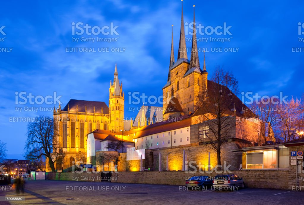 Erfurt, Germany, Domplatz stock photo