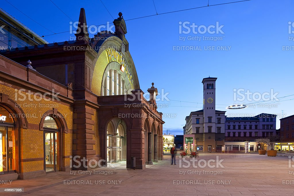 Erfurt, Germany, Willy-Brandt-Platz and Central Station royalty-free stock photo