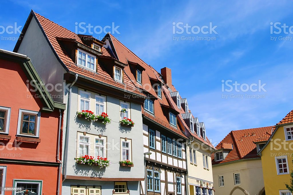 Erfurt half-timbered stock photo
